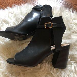 Black Opened Toed Heels